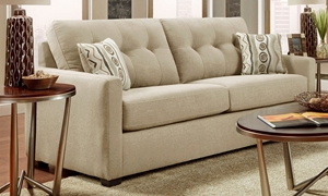 Washington Furniture Mitchell Tufted Track Arm Sofa in Sand Upholstery