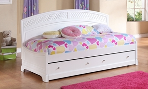 Funhouse Twin Daybed with Six Interchangeable Color Panels in White Finish