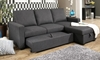 Abbyson Living Queen Sleeper Sofa with Reversible Storage Chaise in Gray Upholstery - Extended