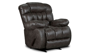 Washington Furniture Gray Triple Pillow Back Rocker Recliner