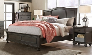 Aspenhome Oxford Peppercorn King Sleigh Bed