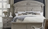 A.R.T. Architectural Salvage King Bed with Footboard Storage and Hand-Carved Headboard in Bedroom