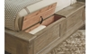 A.R.T. Architectural Salvage - Storage Footboard Open