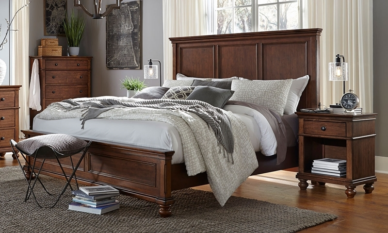 Aspenhome Oxford Whiskey King Panel Bed