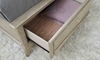 A.R.T. Starlite Glam Upholstered Queen Storage Bed