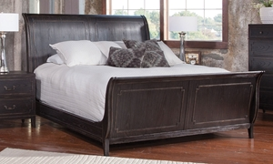 Weston Traditional Ash Sleigh Queen Bed