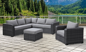 Brunswick Complete All-Weather Wicker Outdoor Seating Set
