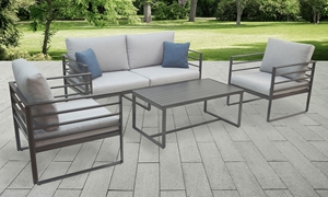 Plank & Hide 4-Piece Bolt Aluminum Outdoor Seating Set