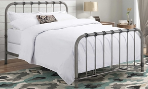 Hollis Adjustable Antique Metal Queen Bed