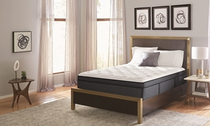 "Restonic Lux Firm Euro Top Hybrid 15"" Queen Mattress with Gel Memory Foam and Wrapped Coils"