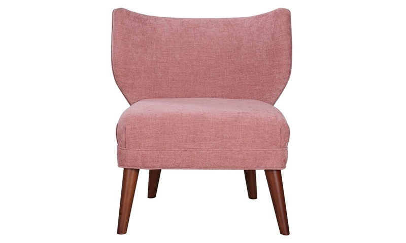 Alcott Contemporary Pink Studio Chair - Front View