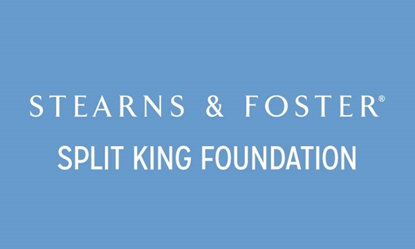 "Stearns & Foster Split King 9"" Foundation"