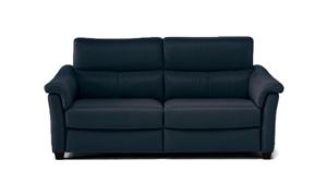 Natuzzi Astuzia Top-Grain Leather Pillow Arm Sofa