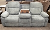 Klaussner Castaway Reclining Sofa with Drop Down Table