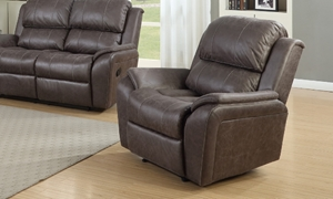 Palomino Brown Pub Back Power Recliner