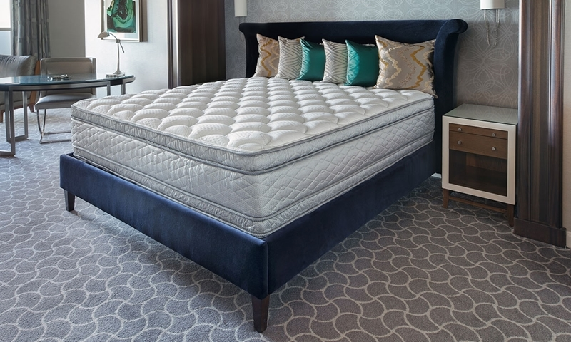 """Serta Perfect Sleeper Hotel Double-Sided Pillowtop 14.5"""" King Mattress with Soft Foams and Cooling Gel in Bedroom"""