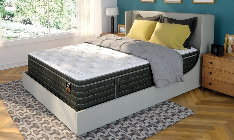 """King Koil 120th Anniversary Gold Firm 13"""" Queen Mattress in Bedroom"""