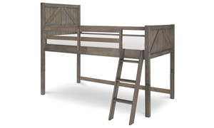 Legacy Classic Bunkhouse Twin Mid-Loft Bed Aged Barnwood