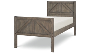 Legacy Classic Bunkhouse Twin Mid-Height Bed Aged Barnwood