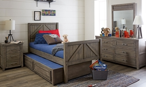 Legacy Classic Bunkhouse 4-Piece Twin Bedroom Set Aged Barnwood