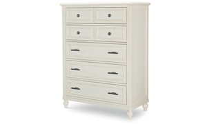 Legacy Classic Lakehouse 5-Drawer Vertical Chest Pebble White