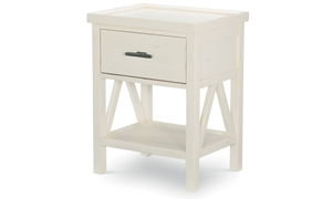 Legacy Classic Lakehouse Open Night Stand Pebble White