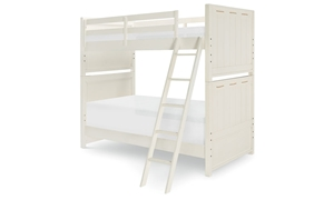 Legacy Classic Lakehouse Twin Bunk Bed Pebble White