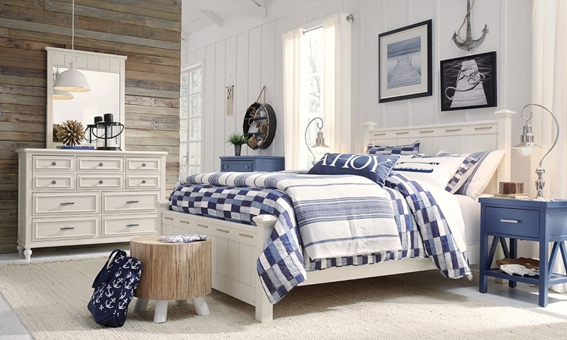 Legacy Classic Lakehouse 3-Piece Full Bedroom Set Pebble White