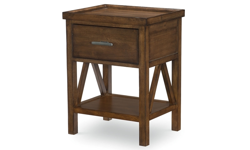 Legacy Classic Lakehouse Open Night Stand Cabin Brown