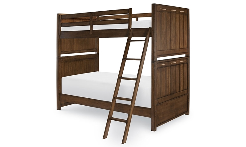 Legacy Classic Lakehouse Twin Bunk Bed Cabin Brown