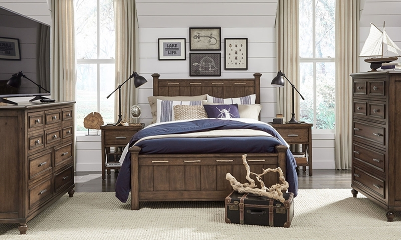 Legacy Classic Lakehouse 3-Piece Full Bedroom Set Cabin Brown