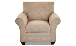 Classic upholstered armchair in Issac Sand tone from Klaussner