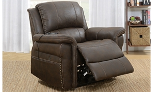 Stain-Resistant Power Recliner With Heated Massage