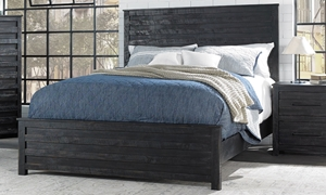 Hillsdale Villa Black Queen Panel Bed