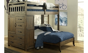 Hillsdale St. Croix 6-Piece Twin Over Full Storage Loft Bed Set