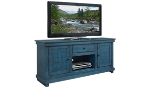 Hillsdale Villa Teal 60-inch Entertainment Console