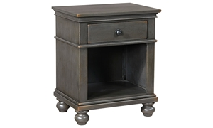 Aspenhome Oxford Peppercorn 1-Drawer Nightstand