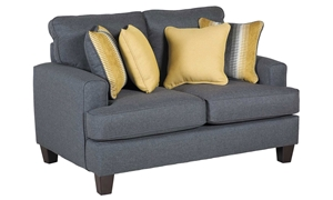 Maxwell Contemporary Track Arm Loveseat