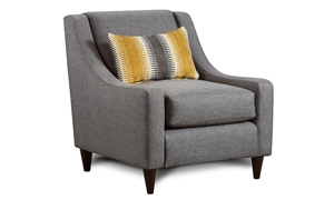Maxwell Grey Contemporary Track Arm Chair