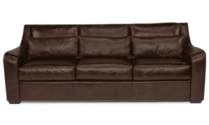 Flexsteel Top Grain Leather Sofa Brown