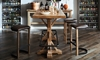 Oozlefinch Fenwick Blonde Minimalist Counter Height Stool with faux leather seat in modern dining area