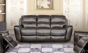 Sterling Leather Power Reclining Sofa with Power Headrest