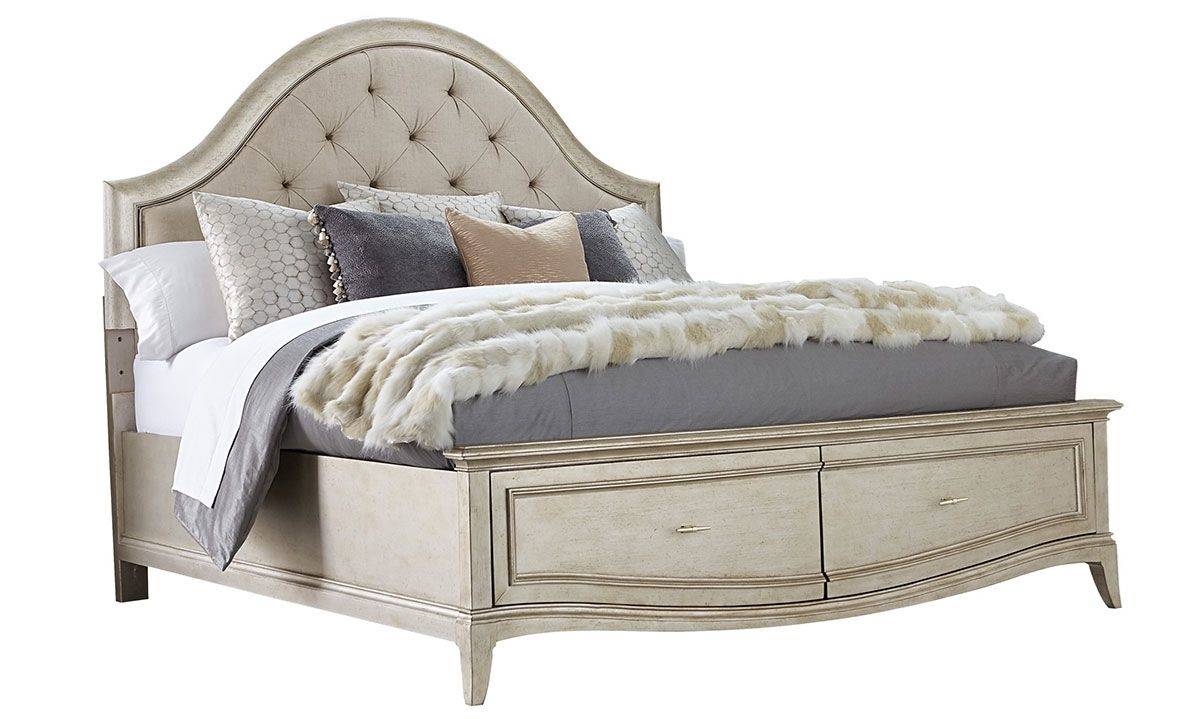 Picture of A.R.T. Starlite Glam Upholstered Queen Storage Bed