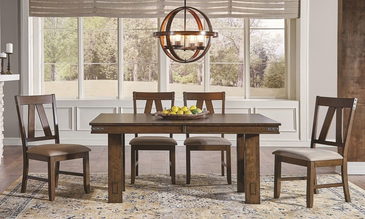 Picture of A-America Eastwood 5-Piece Trestle Dining Set