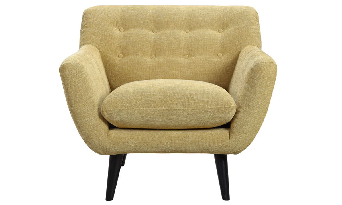Picture of Kant Gold Button-Tufted Accent Chair