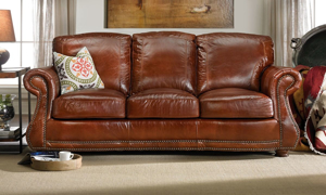 Picture of Rocky Mountain Leather Brandy Alligator Sofa