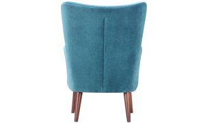 Picture of Dewey Teal Contemporary Wingback Accent Chair