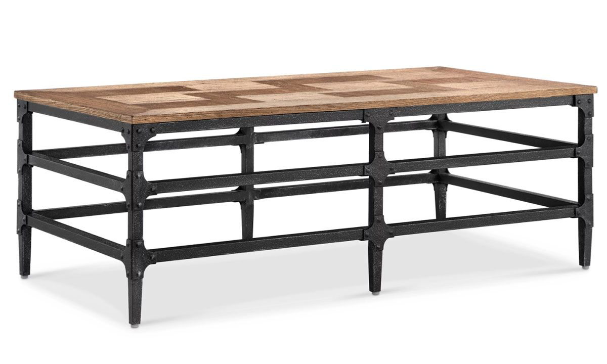 Picture of Magnussen Home Dylan Industrial Parquet Cocktail Table