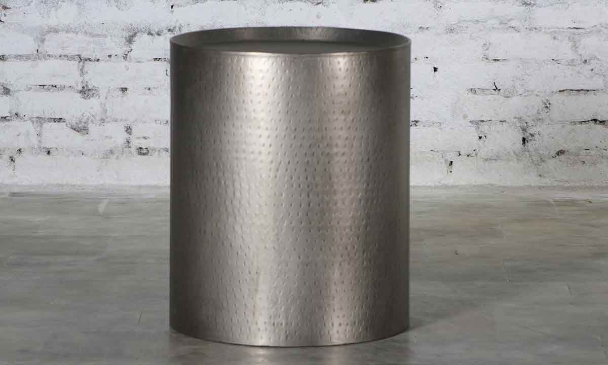 Picture of Empire Hammered Metal Side Table
