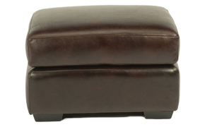 Picture of Flexsteel Top Grain Leather Ottoman Brown
